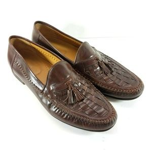 Nordstrom Mens Brown Leather Slip On Loafers
